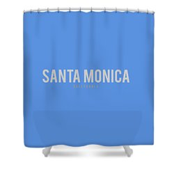 Santa Monica California Shower Curtain