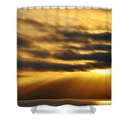 Shower Curtain featuring the photograph Santa Monica Golden Hour by Kyle Hanson