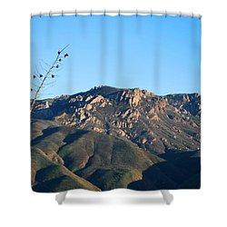 Shower Curtain featuring the photograph Santa Monica Mountains View  by Matt Harang