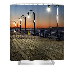 Santa Monica Pier Lights Shower Curtain