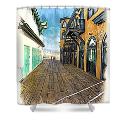 Santa Monica Pier Ver 3 Shower Curtain