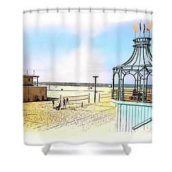 Santa Monica Pier Ver1  Shower Curtain
