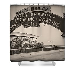 Santa Monica Sign Series Modern Vintage Shower Curtain