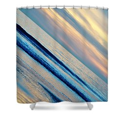 Shower Curtain featuring the photograph Santa Monica Sunset by Kyle Hanson