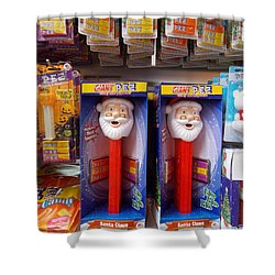 Santa Pez Shower Curtain