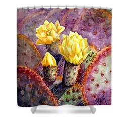 Santa Rita Prickly Pear Cactus Shower Curtain