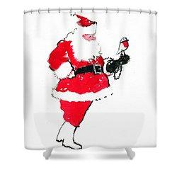 Santa Robin Falconry Shower Curtain by George Adamson