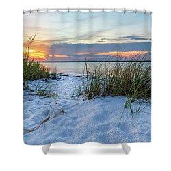 Santa Rosa Sound Sunset Shower Curtain