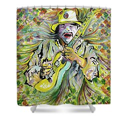 Santana's Sacred Fire Shower Curtain
