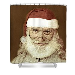 Santa's Day Off Shower Curtain