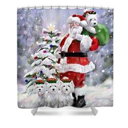 Santa's Helpers Shower Curtain