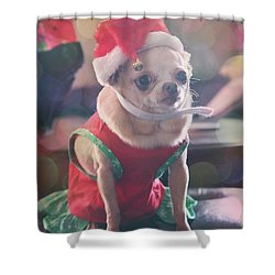 Shower Curtain featuring the photograph Santa's Little Helper by Laurie Search