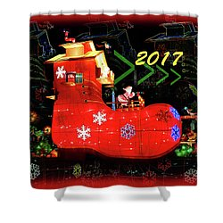 Santa's Magic Stocking Shower Curtain