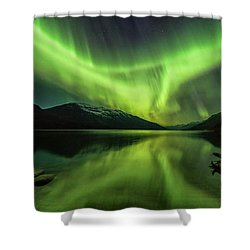 Santa's Wake Shower Curtain