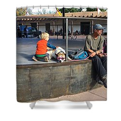 Shower Curtain featuring the photograph Sante Fe Chill by Brenda Pressnall