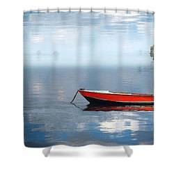 Santee Lakes Serenity Shower Curtain by Deborah Smith