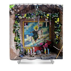 Santiago Apostel Chimayo Shower Curtain by Kurt Van Wagner