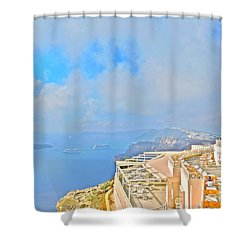 Santo Winery, Santorini Shower Curtain