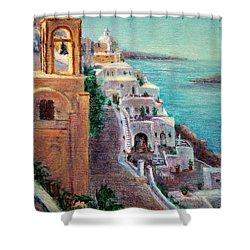 Hotels Of Santorini Shower Curtain