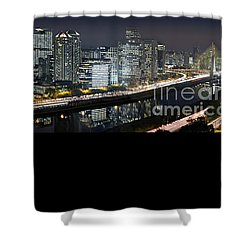 Sao Paulo Iconic Skyline - Cable-stayed Bridge  Shower Curtain