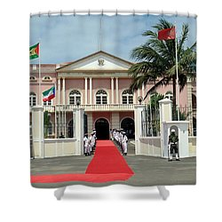 Sao Tome City Hall Shower Curtain