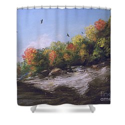 Soaring Over The North Rim, Autumn Shower Curtain