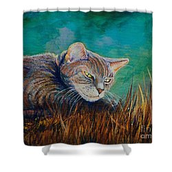 Saphira's Lawn Shower Curtain by AnnaJo Vahle