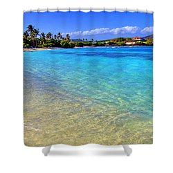 Sapphire Glow Shower Curtain