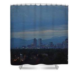 Sapphire Skies Shower Curtain