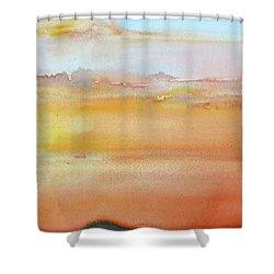 Sapphire Sunrise Autumn Shower Curtain