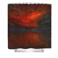 Sapphire Sunset Shower Curtain by Jane See