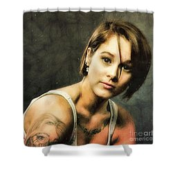 Sara  ... Shower Curtain by Chuck Caramella