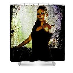 Shower Curtain featuring the digital art Sarah 1 by Mark Baranowski