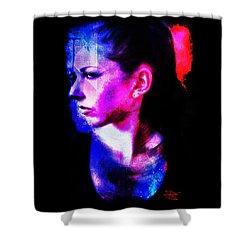 Shower Curtain featuring the digital art Sarah 2 by Mark Baranowski