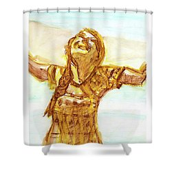 Sarah On The Beach Shower Curtain