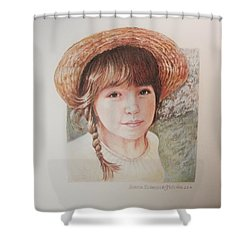 Shower Curtain featuring the painting Sarah by Patricia Schneider Mitchell