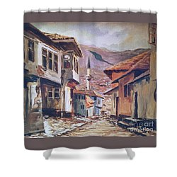 Sarajevo Old Town Shower Curtain
