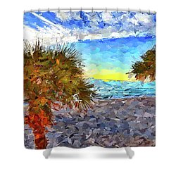 Shower Curtain featuring the photograph Sarasota Beach Florida by Joan Reese