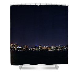 Sarasota Cityscape-night-full Moon Shower Curtain