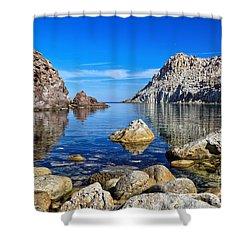 Sardinia - Calafico Bay  Shower Curtain