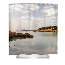 Shower Curtain featuring the photograph Sardinian Coast I by Yuri Santin