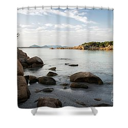 Shower Curtain featuring the photograph Sardinian Coast by Yuri Santin