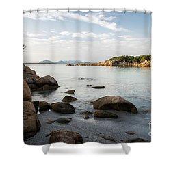 Sardinian Coast Shower Curtain by Yuri Santin