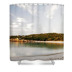 Sardinian View Shower Curtain by Yuri Santin