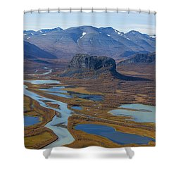 Sarek Nationalpark Shower Curtain