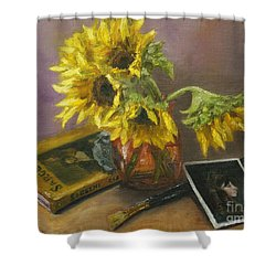Sargent And Sunflowers Shower Curtain