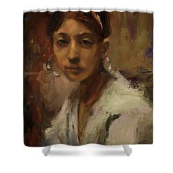 Sargent Study Number 1 Capri Girl Shower Curtain by Brian Kardell