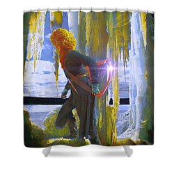 Sarkis Passes Through The Ice Curtain II Shower Curtain