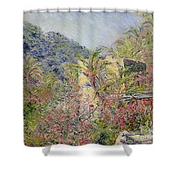 Sasso Valley Shower Curtain by Claude Monet