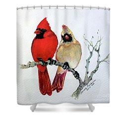 Sassy Pair Shower Curtain by Marcia Baldwin